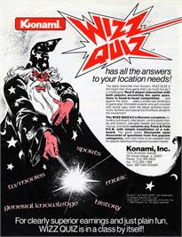 Advert for Wizz Quiz on the Arcade.