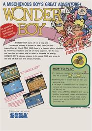 Advert for Wonder Boy on the Arcade.