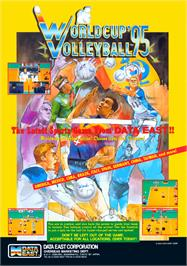 Advert for World Cup Volley '95 on the Arcade.