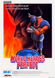 Advert for World Heroes Perfect on the Arcade.