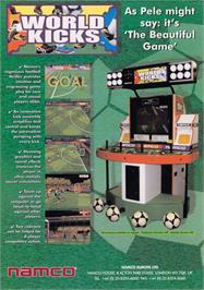 Advert for World Kicks on the Sega Naomi.