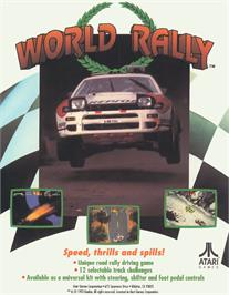Advert for World Rally on the Arcade.