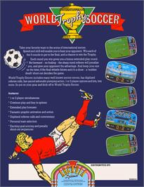Advert for World Trophy Soccer on the Arcade.
