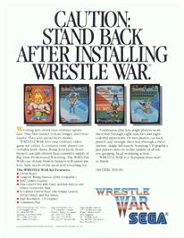 Advert for Wrestle War on the Arcade.