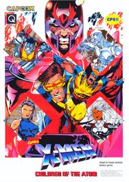 Advert for X-Men: Children of the Atom on the Arcade.