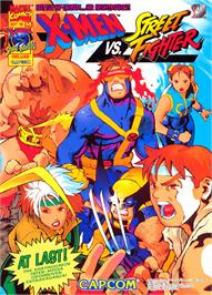 Advert for X-Men vs. Street Fighter on the Sony Playstation.