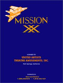 Advert for XX Mission on the Arcade.