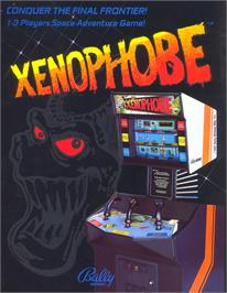Advert for Xenophobe on the Arcade.