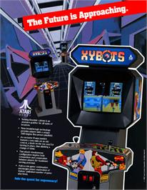 Advert for Xybots on the Commodore Amiga.