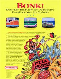 Advert for Yo! Noid on the Nintendo Arcade Systems.