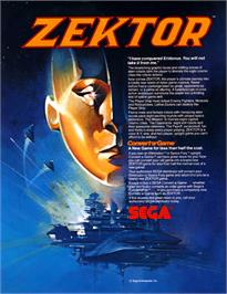 Advert for Zektor on the Arcade.