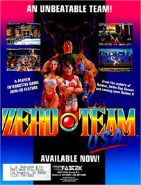 Advert for Zero Team Selection on the Arcade.