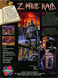 Advert for Zombie Raid on the Arcade.