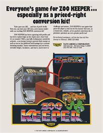 Advert for Zoo Keeper on the Arcade.