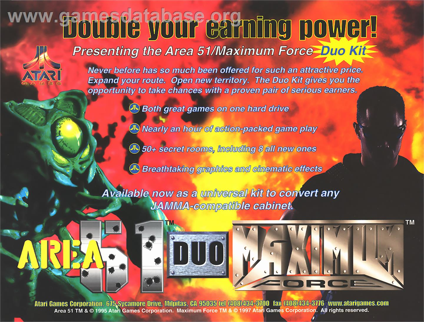 Area 51 / Maximum Force Duo - Arcade - Artwork - Advert