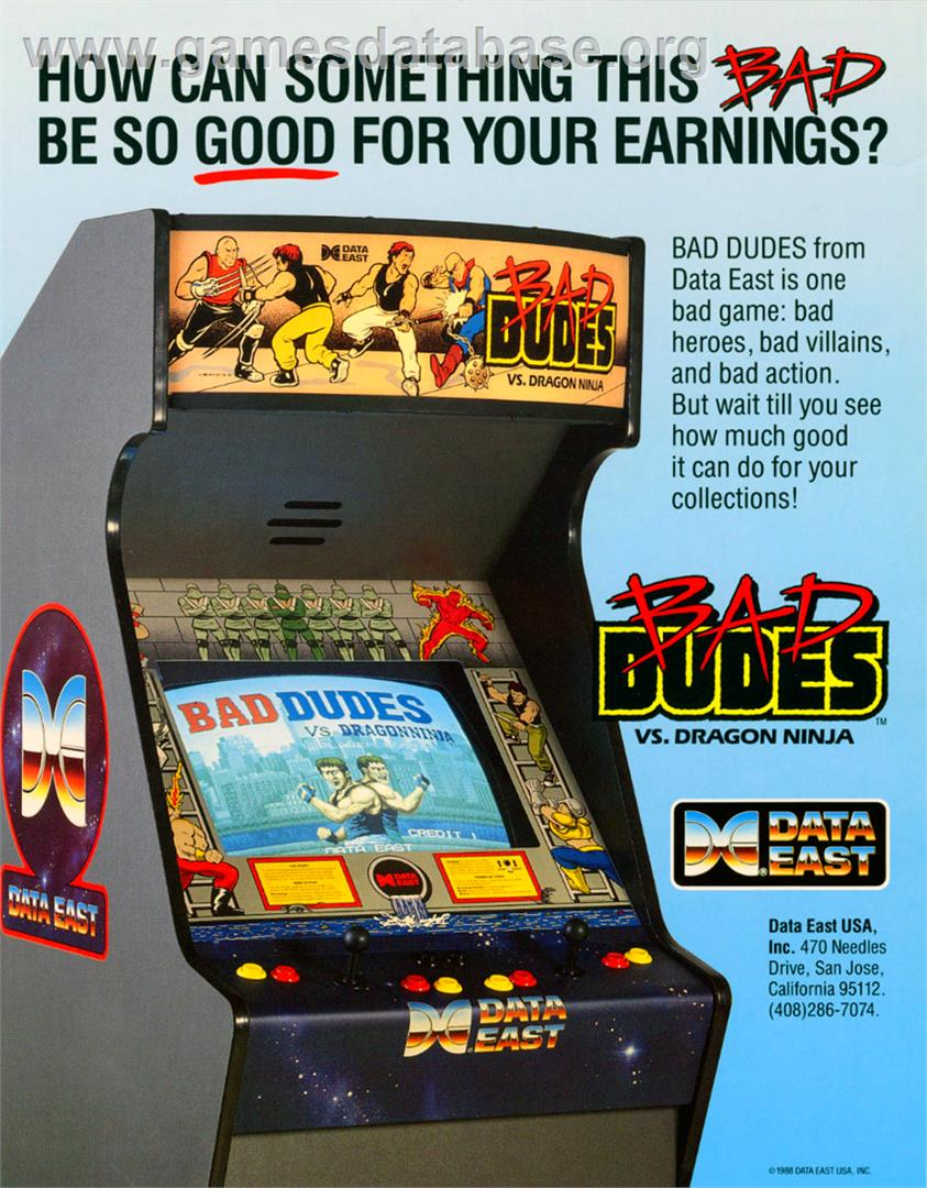 Bad Dudes vs. Dragonninja - Arcade - Artwork - Advert