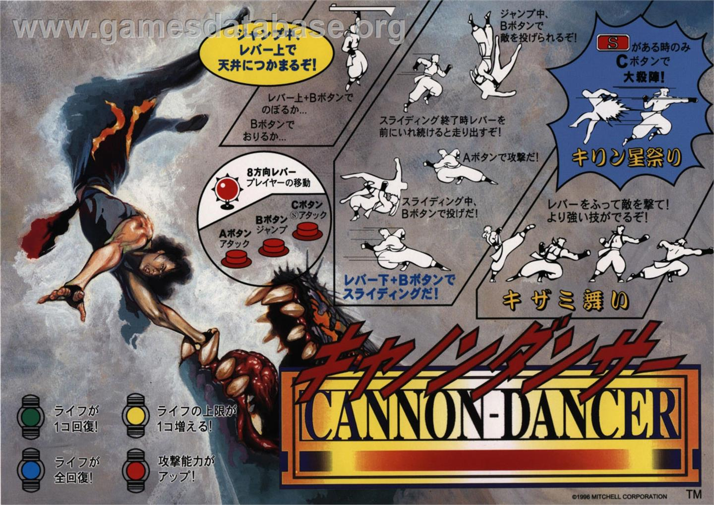 Cannon Dancer - Arcade - Artwork - Advert
