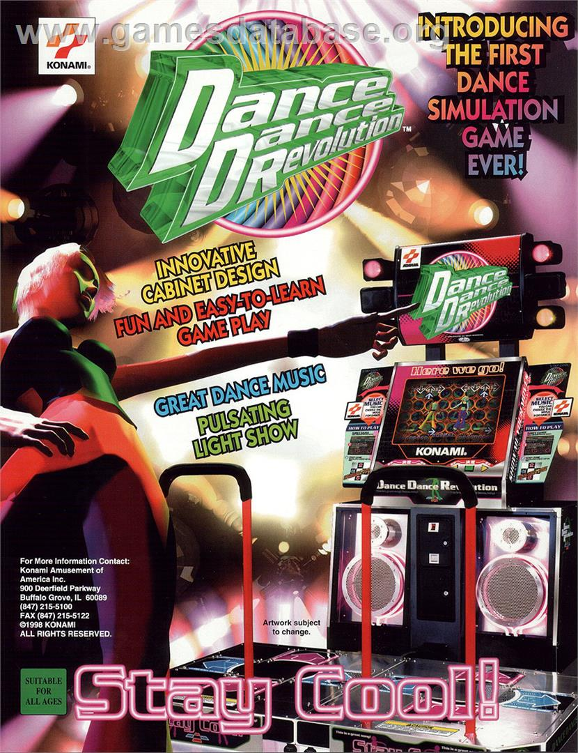 Dance Dance Revolution - Arcade - Artwork - Advert