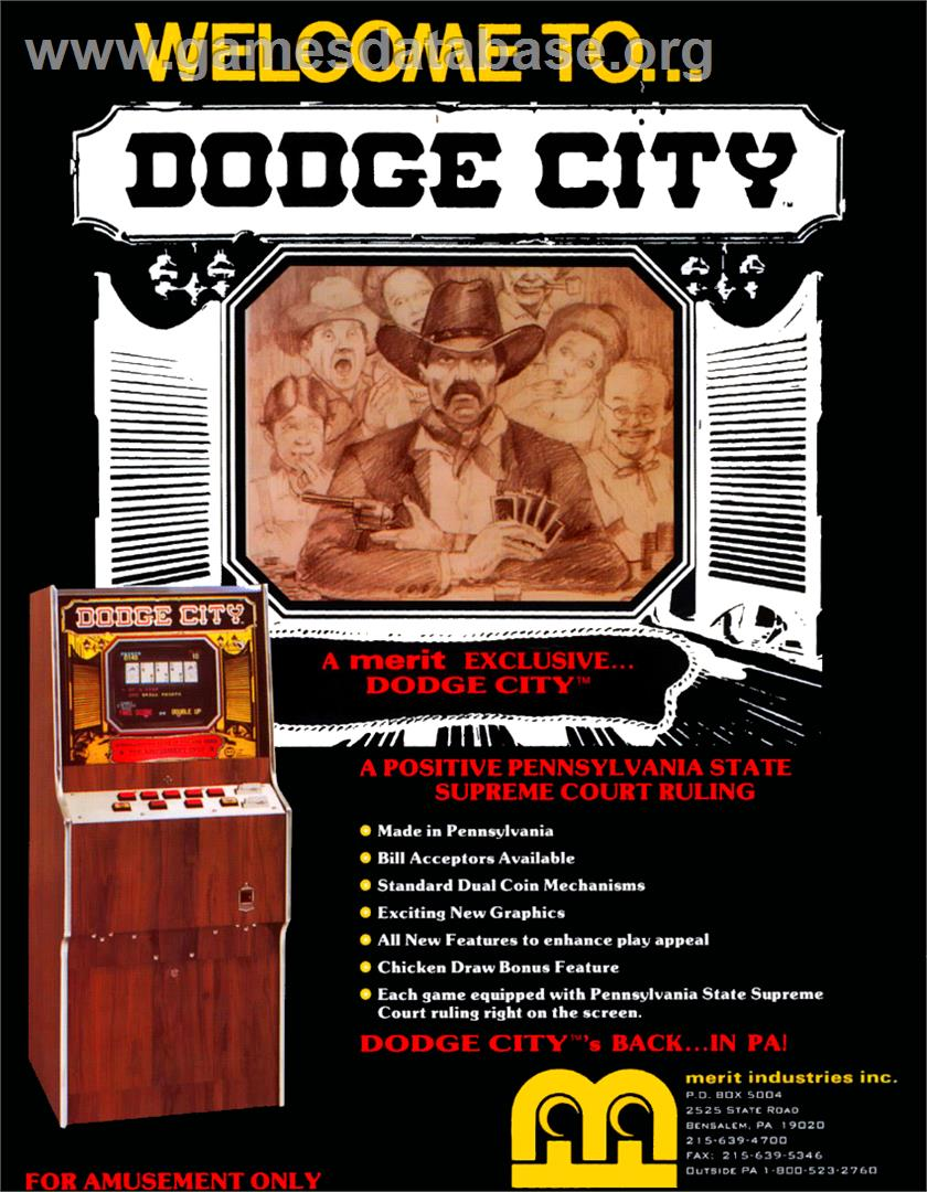 Dodge City - Arcade - Artwork - Advert