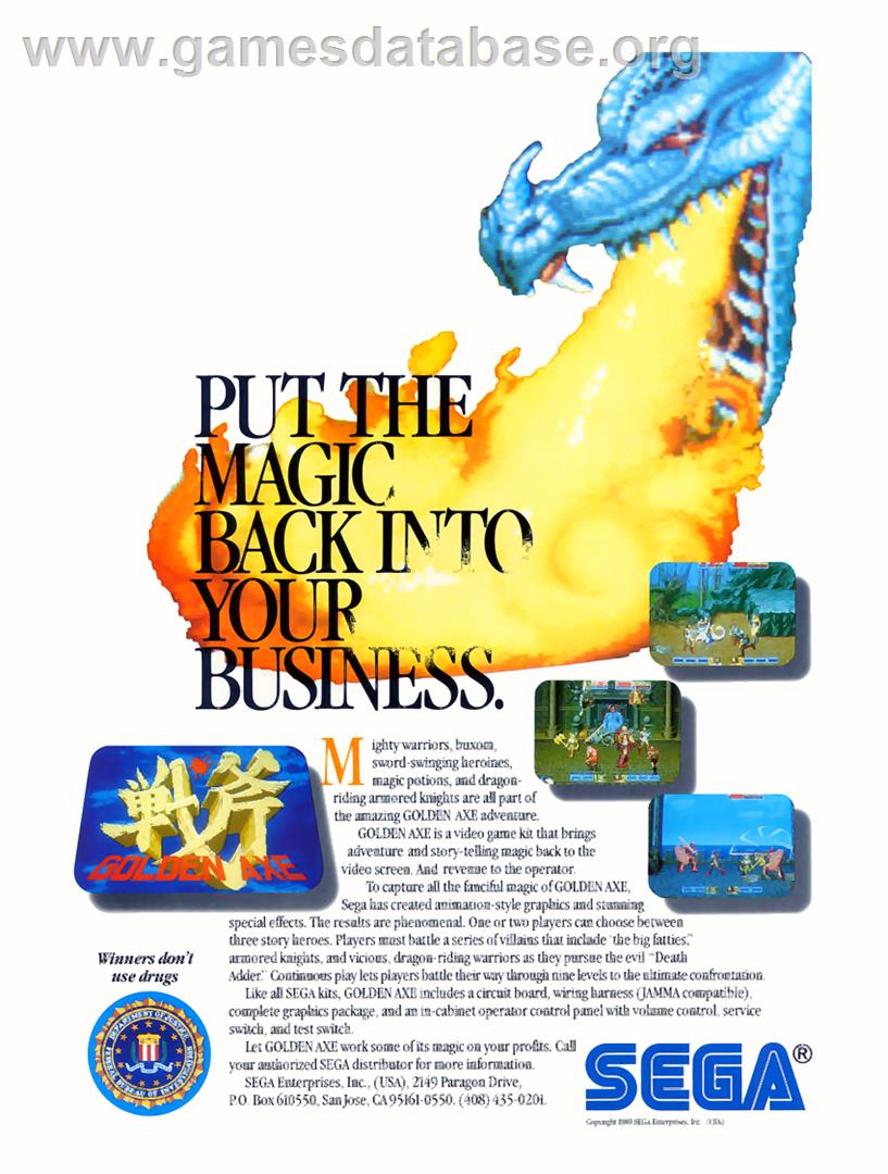 Golden Axe - Sega Genesis - Artwork - Advert