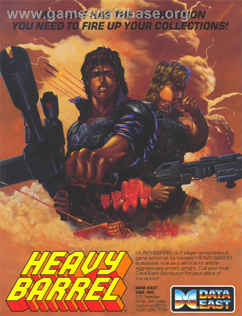 Heavy Barrel - Arcade - Artwork - Advert