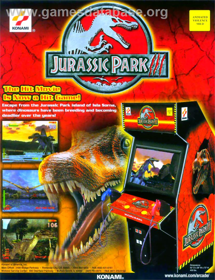 Jurassic Park 3 - Arcade - Artwork - Advert