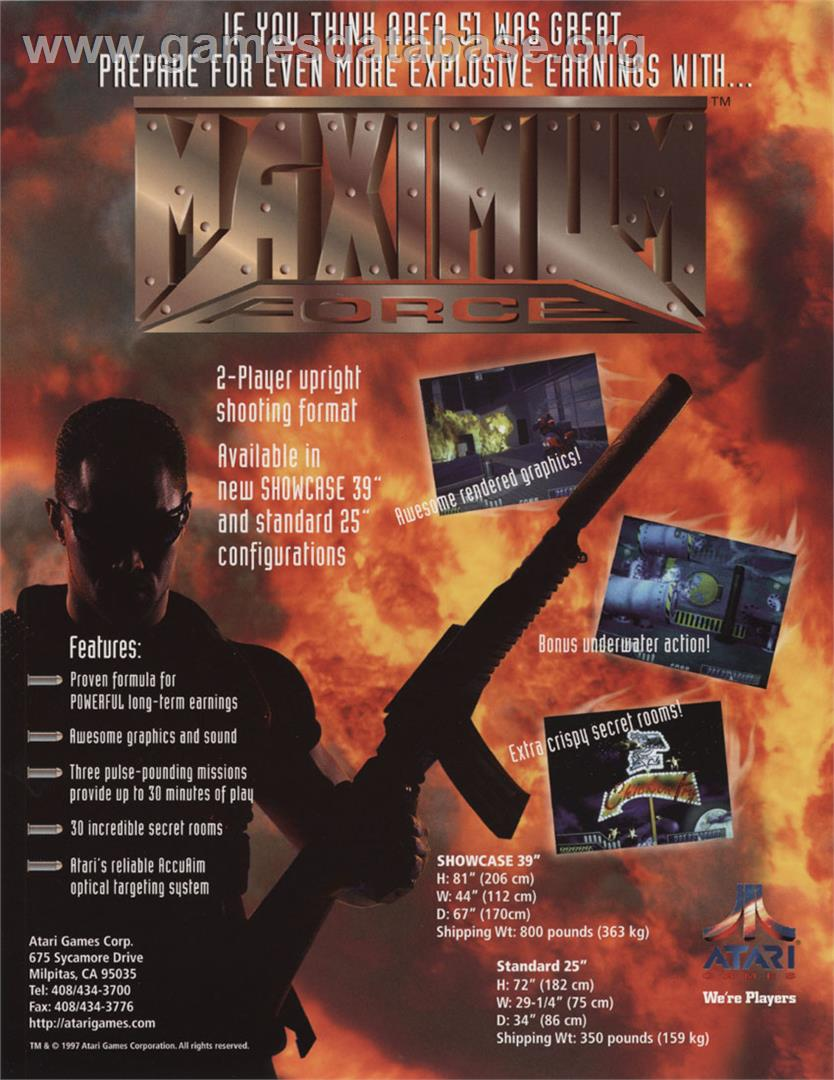 Maximum Force v1.05 - Arcade - Artwork - Advert