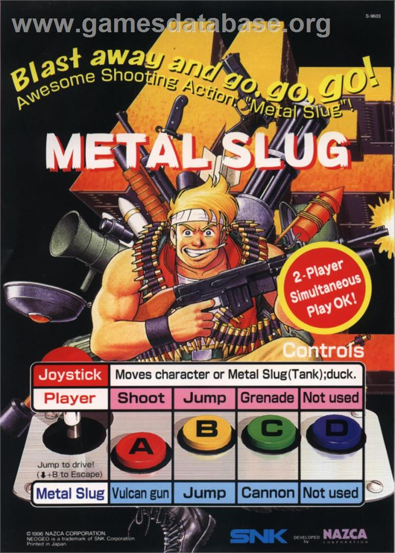Metal Slug - Super Vehicle-001 - Sony Playstation 2 - Artwork - Advert