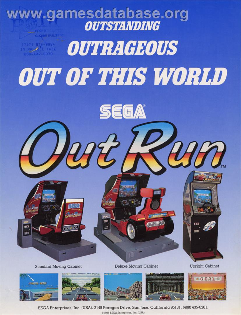 Out Run - Arcade - Artwork - Advert