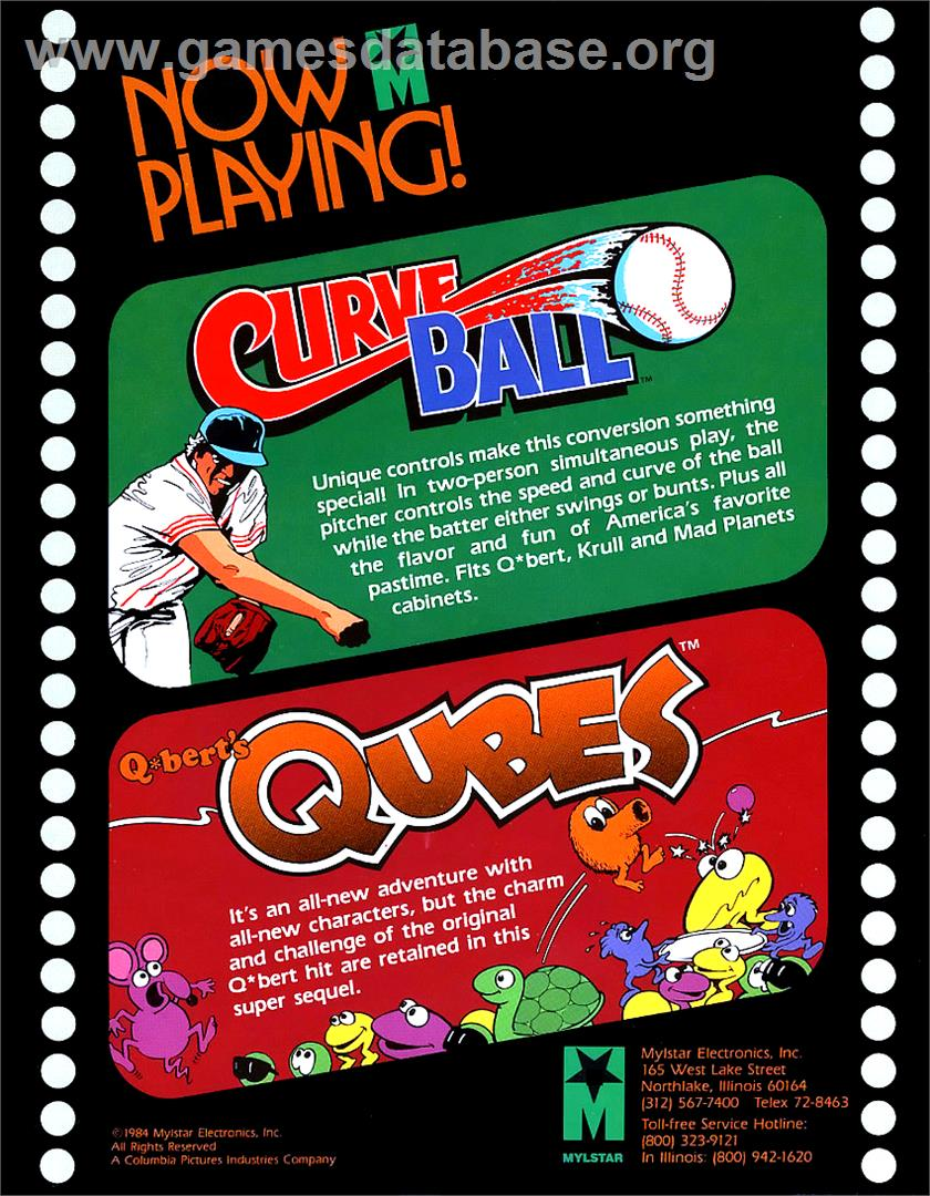 Q*bert's Qubes - Arcade - Artwork - Advert