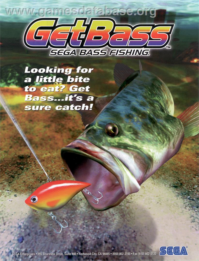 Sega bass fishing sega dreamcast games database for Fish arcade game