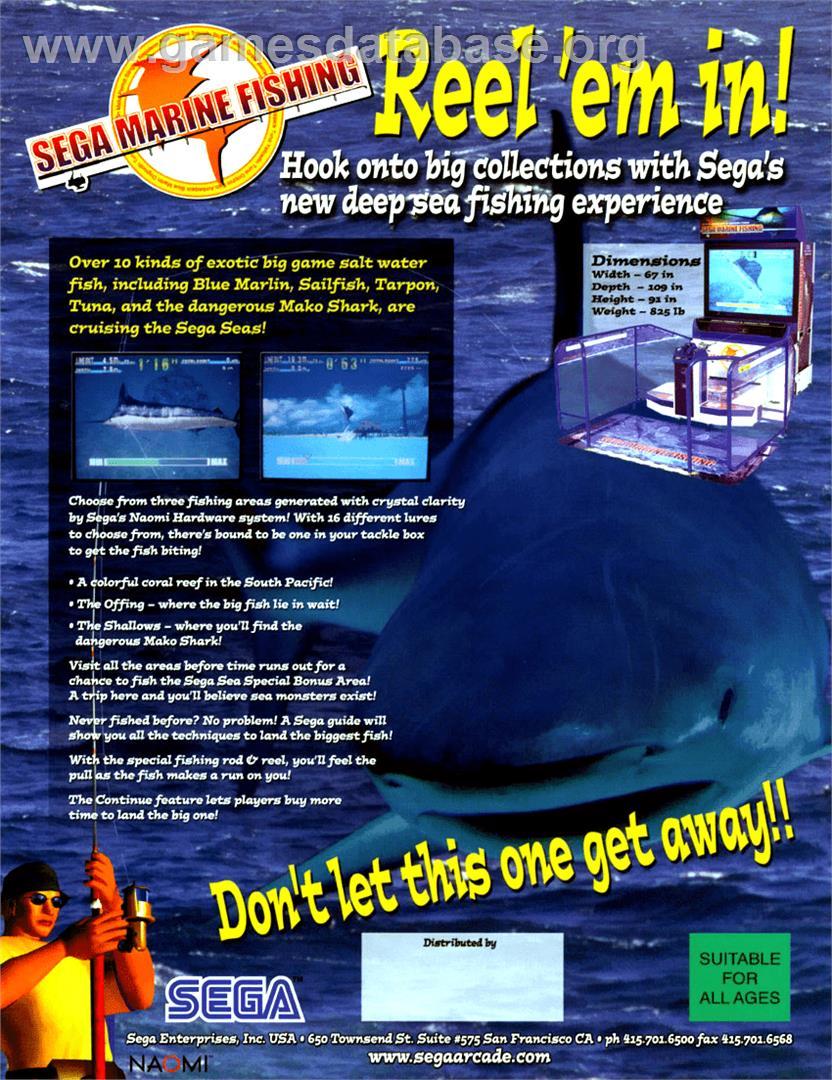 Sega marine fishing arcade games database for Arcade fishing games