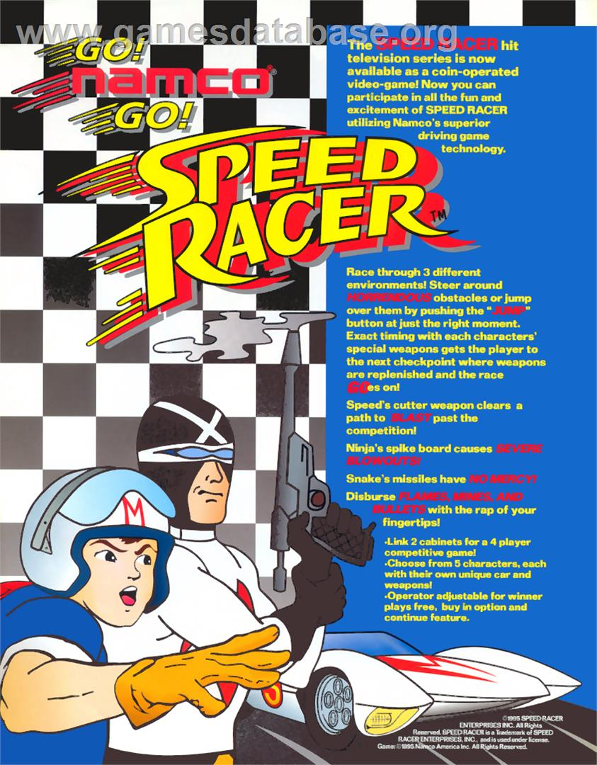 Speed Racer - Arcade - Artwork - Advert