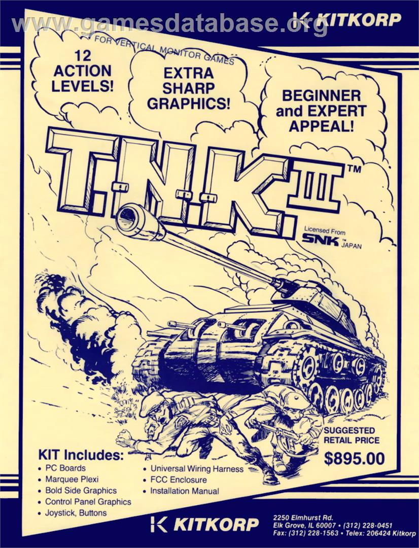 T.N.K III - Arcade - Artwork - Advert