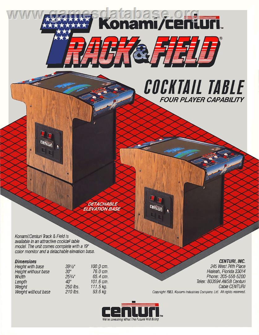 Konami's Track & Field arcade gameplay