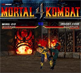 Artwork for Mortal Kombat 4.
