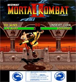 Artwork for Mortal Kombat II.