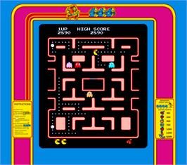 Artwork for Ms. Pac-Man.