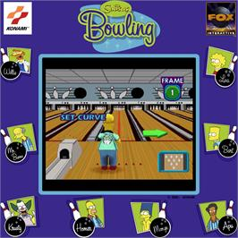 Artwork for Simpsons Bowling.