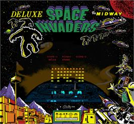 Artwork for Space Invaders Deluxe.