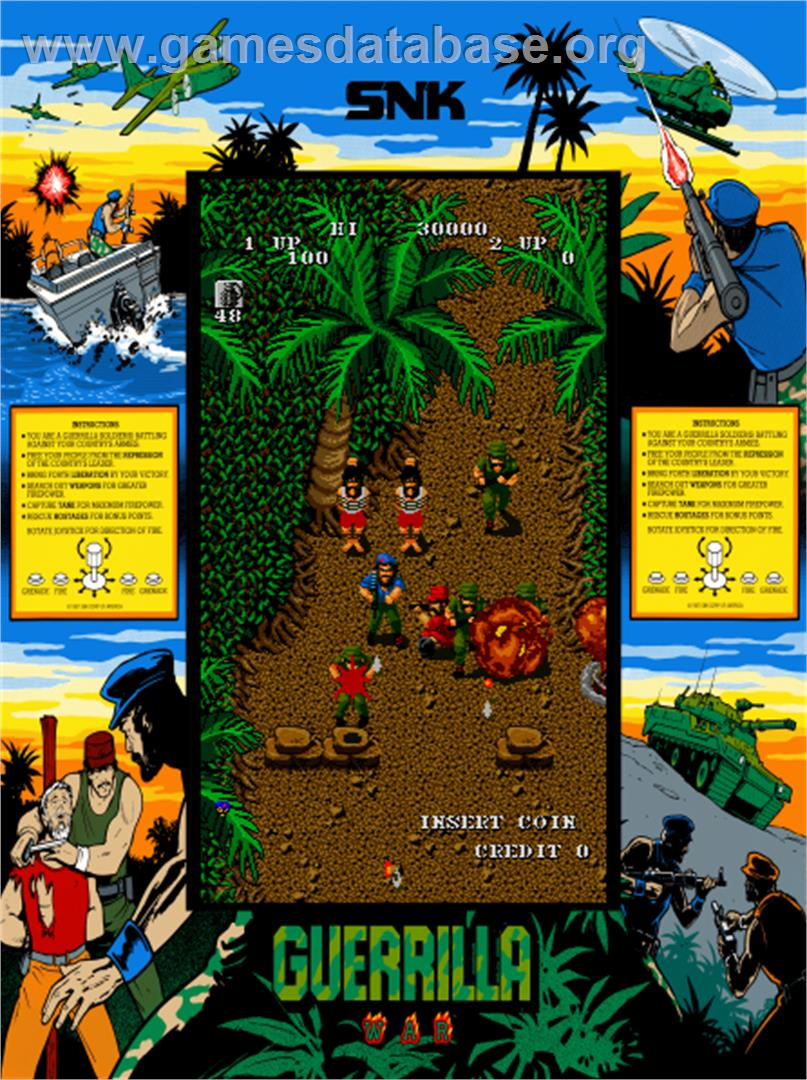 Guerrilla War Arcade Artwork Artwork