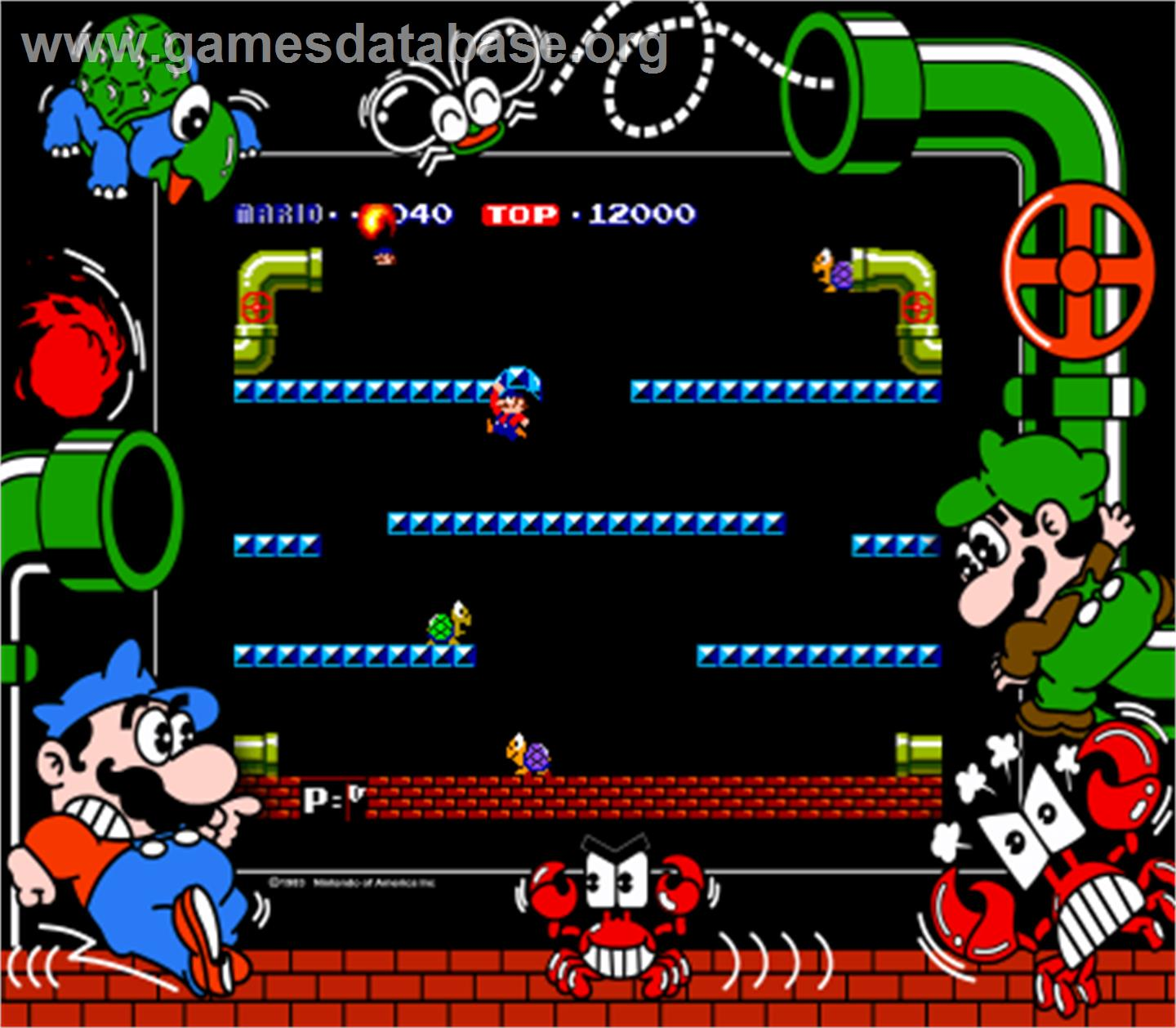 mario bros arcade artwork