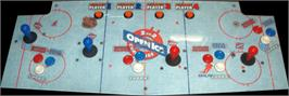 Arcade Control Panel for 2 On 2 Open Ice Challenge.