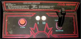 Arcade Control Panel for Crater Raider.