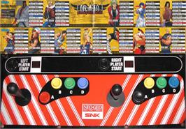 Arcade Control Panel for Garou - Mark of the Wolves.