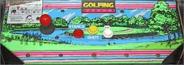 Arcade Control Panel for Golfing Greats.