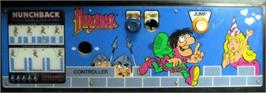 Arcade Control Panel for Hunchback.
