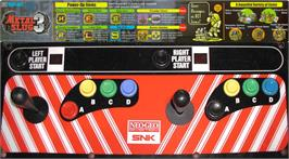 Arcade Control Panel for Metal Slug 3.