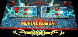Arcade Control Panel for Mortal Kombat II.