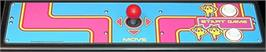 Arcade Control Panel for Ms. Pac-Man Plus.